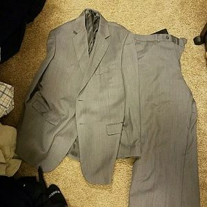 Mens Wool Suit Gray